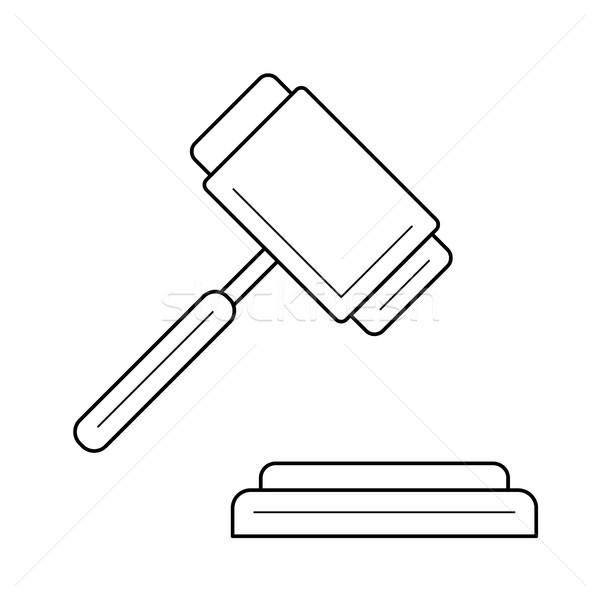 Stock foto: Auktion · line · Symbol · Vektor · isoliert · weiß