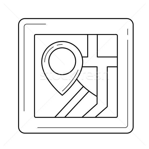 Domu lokalizacja line ikona wektora odizolowany Zdjęcia stock © RAStudio