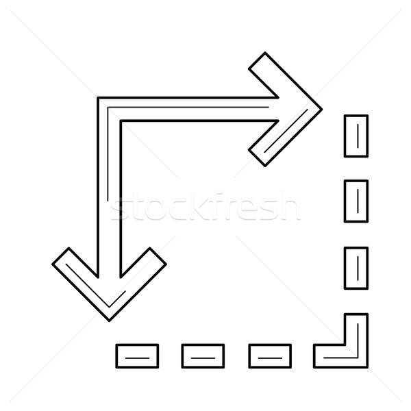 Content extension line icon. Stock photo © RAStudio