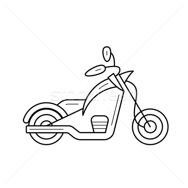 Stock photo: Bike chopper line icon.