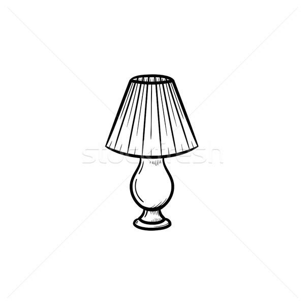 Table lamp hand drawn sketch icon. Stock photo © RAStudio