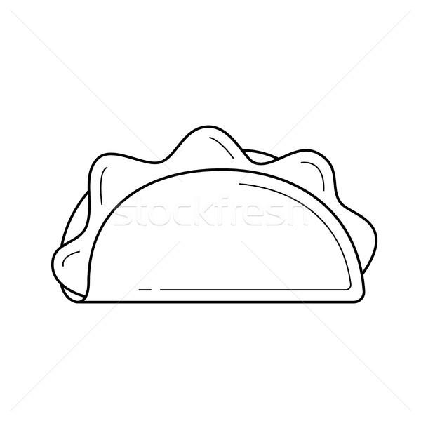 Taco vector line icon. Stock photo © RAStudio