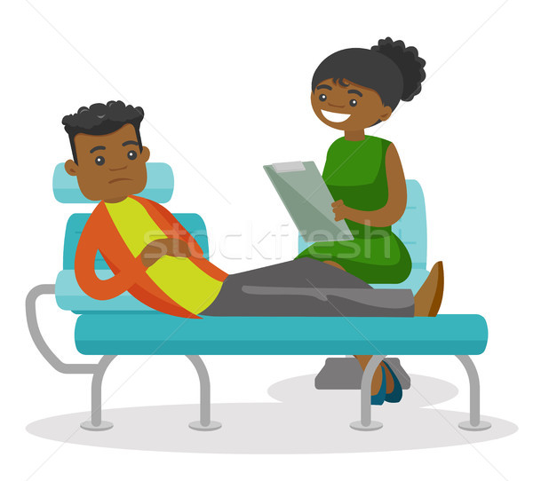 African psychologist having session with patient. Stock photo © RAStudio