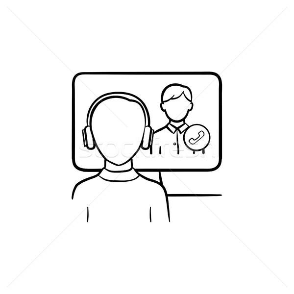 Online education hand drawn sketch icon. Stock photo © RAStudio