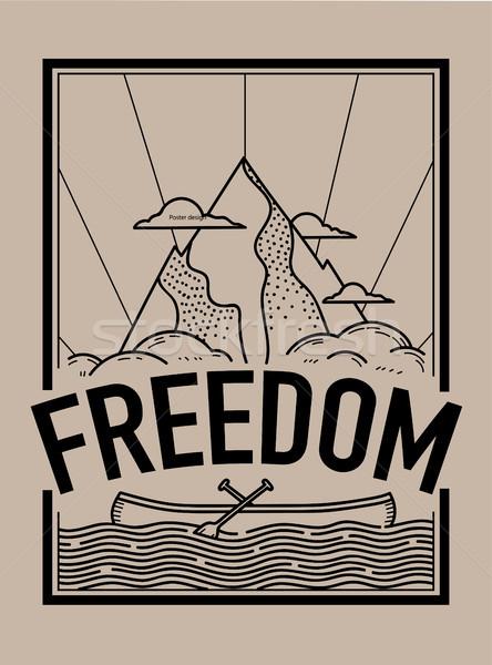 自由 Tシャツ 印刷 刺繍 グラフィック タイポグラフィ ストックフォト © RAStudio