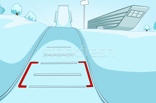 Ski Resort cartoon eps 10 fond Photo stock © RAStudio