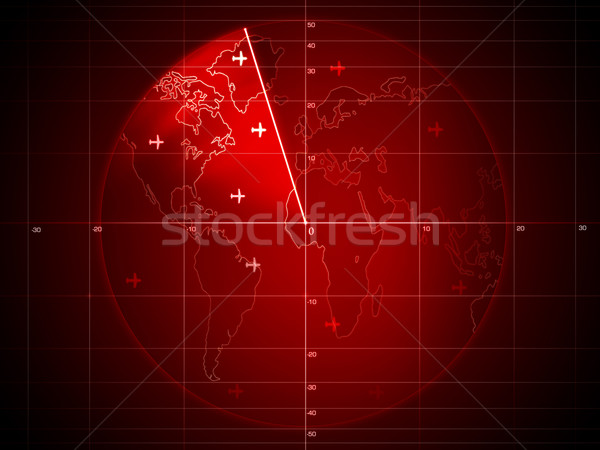 Radar tela detalhes gráficos computador Foto stock © RAStudio
