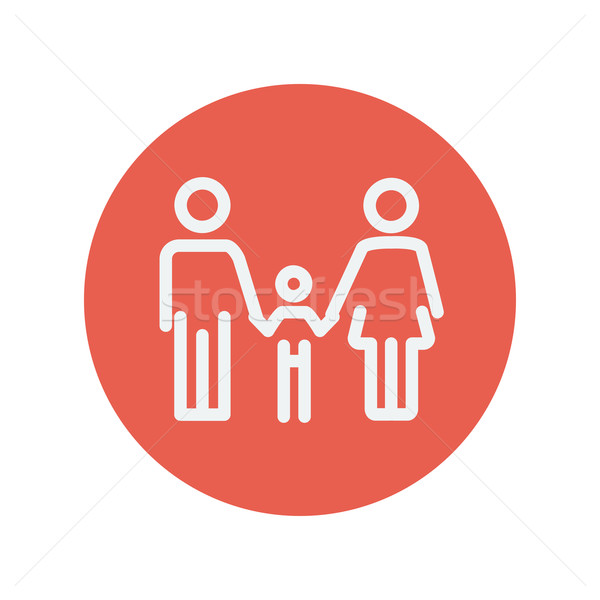 Family thin line icon Stock photo © RAStudio