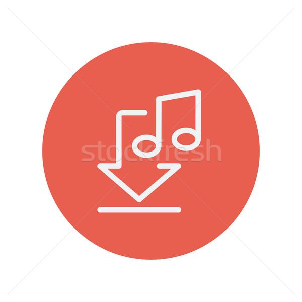 Download music thin line icon Stock photo © RAStudio