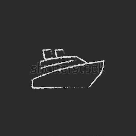 Cruiseschip icon krijt Blackboard Stockfoto © RAStudio