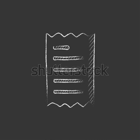 領収書 アイコン チョーク 手描き 黒板 ストックフォト © RAStudio