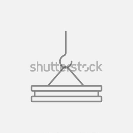 állvány kampó vonal ikon tart beton Stock fotó © RAStudio