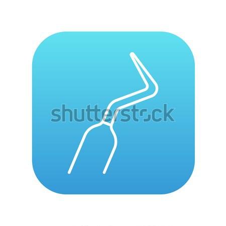 Dental scraper line icon. Stock photo © RAStudio