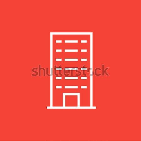 Residencial edificio línea icono web móviles Foto stock © RAStudio