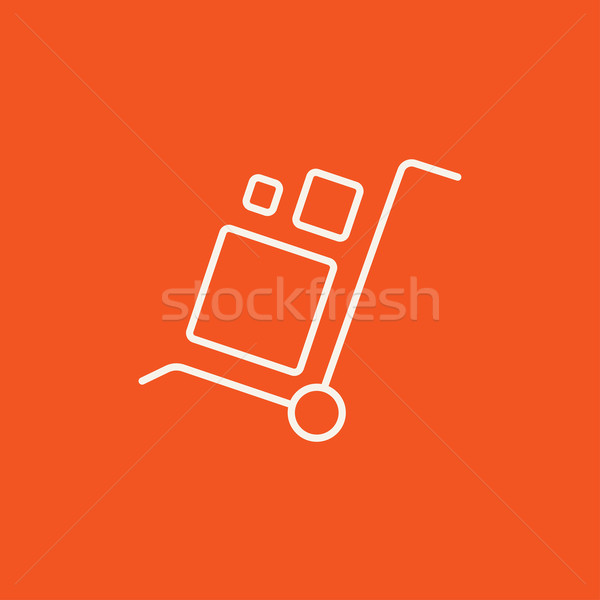 Shopping handling trolley line icon. Stock photo © RAStudio