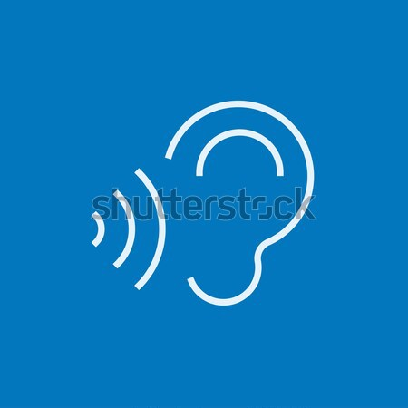 Ear and sound waves line icon. Stock photo © RAStudio