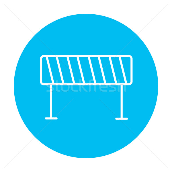 Road barrier line icon. Stock photo © RAStudio