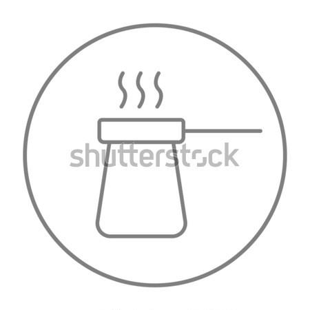Coffee turk line icon. Stock photo © RAStudio