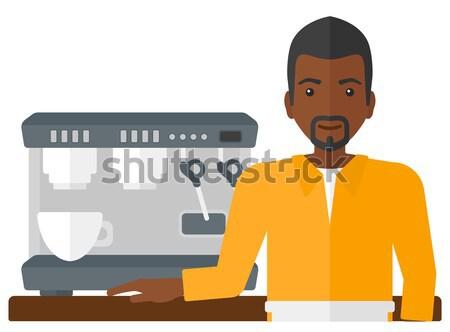 Бариста Постоянный кофеварка вектора дизайна иллюстрация Сток-фото © RAStudio