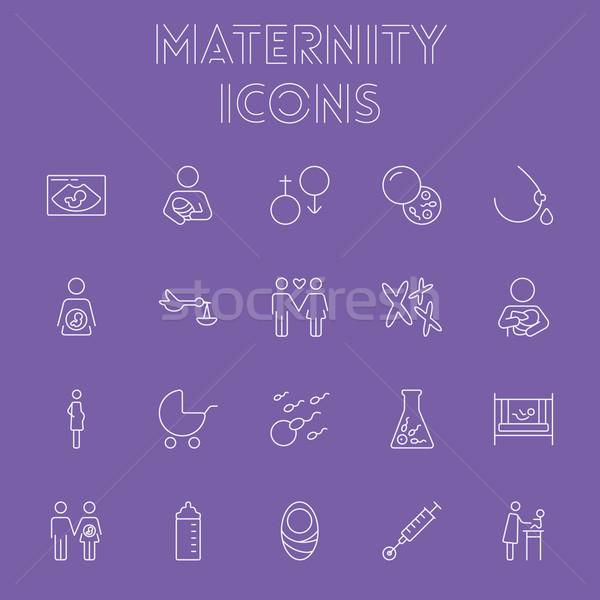 Maternidad vector luz púrpura icono Foto stock © RAStudio