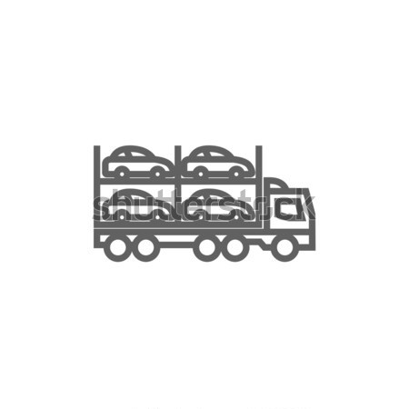 Car carrier line icon. Stock photo © RAStudio