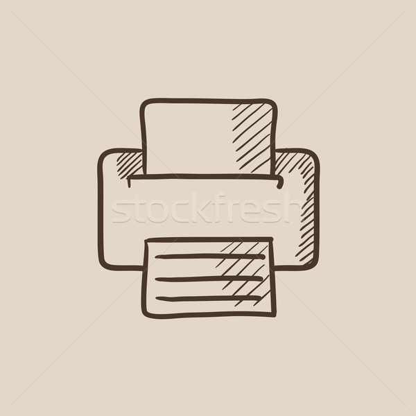 Printer sketch icon. Stock photo © RAStudio