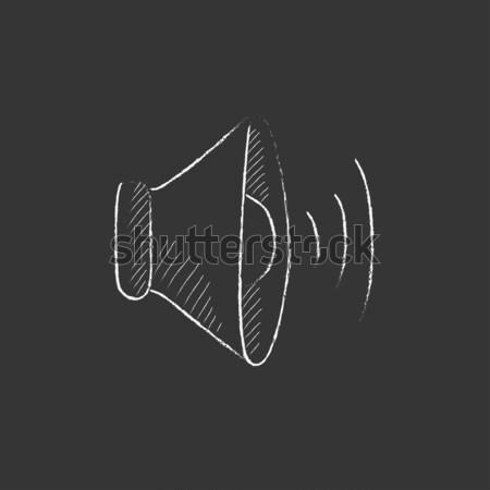 Spreker volume krijt icon Stockfoto © RAStudio
