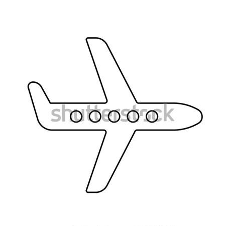 Flying airplane. Drawn in chalk icon. Stock photo © RAStudio