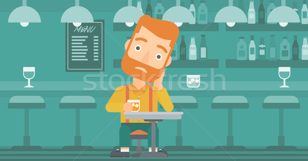 Man sitting at bar. Stock photo © RAStudio