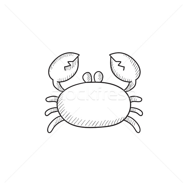 Crab sketch icon. Stock photo © RAStudio