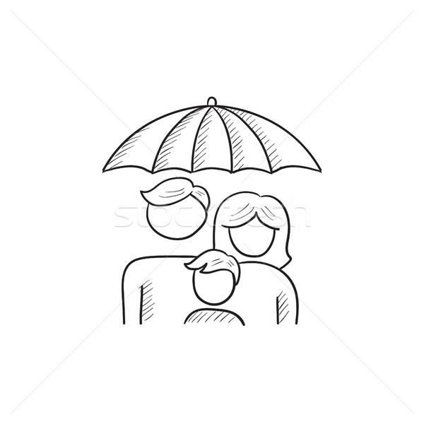 Family insurance sketch icon. Stock photo © RAStudio