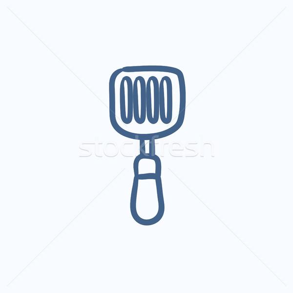 Kitchen spatula sketch icon. Stock photo © RAStudio