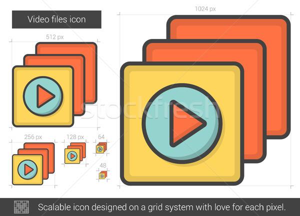 Video files line icon. Stock photo © RAStudio