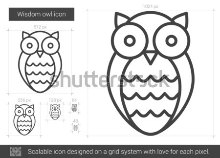 Wisdom owl line icon. Stock photo © RAStudio