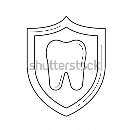 Cavity protection line icon. Stock photo © RAStudio