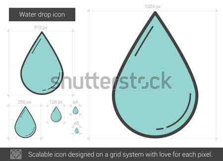 Gota de agua línea icono vector aislado Foto stock © RAStudio
