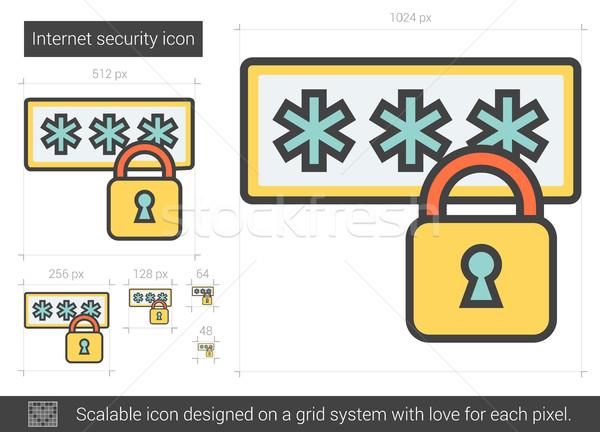 Internet security line icon. Stock photo © RAStudio
