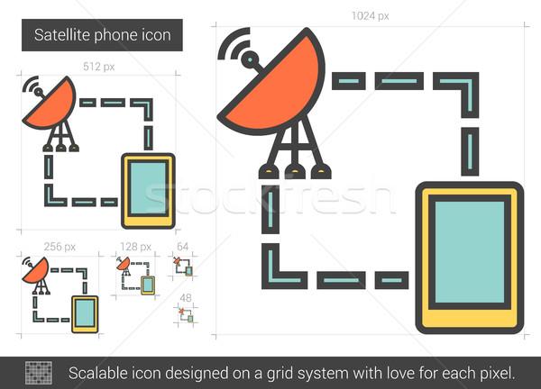 Satellite telefono line icona vettore isolato Foto d'archivio © RAStudio