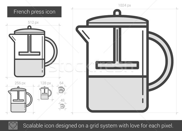 French press line icon. Stock photo © RAStudio