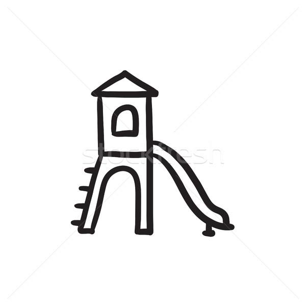 Playground with slide sketch icon. Stock photo © RAStudio