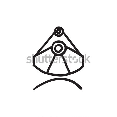 Mining industrial scoop sketch icon. Stock photo © RAStudio