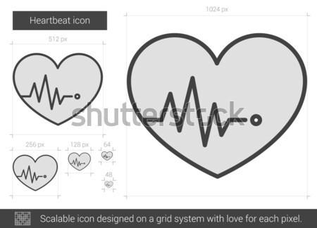 Battito del cuore line icona vettore isolato bianco Foto d'archivio © RAStudio
