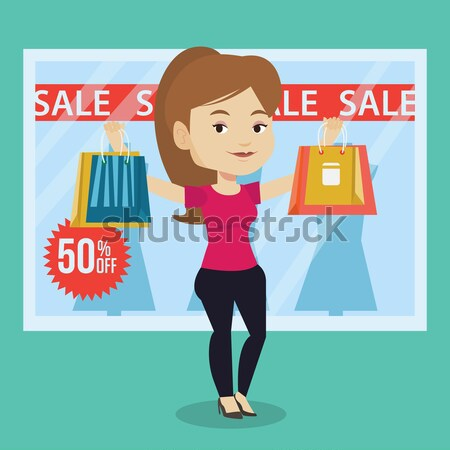 Woman shopping on sale vector illustration. Stock photo © RAStudio