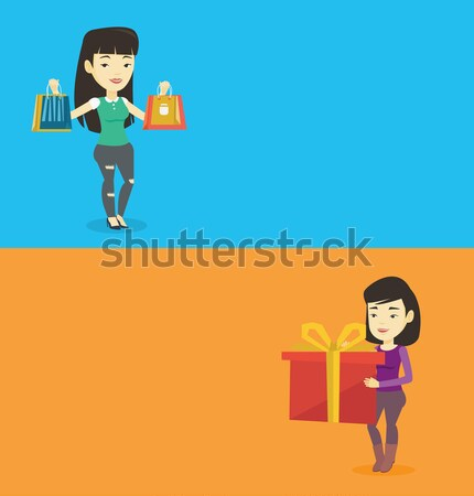 Two shopping banners with space for text. Stock photo © RAStudio