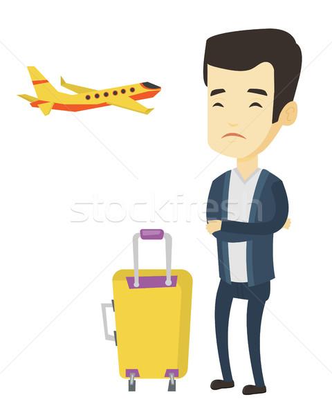 молодым человеком страдание страхом Flying молодые азиатских Сток-фото © RAStudio