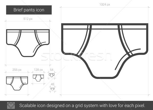Brief pants line icon. Stock photo © RAStudio