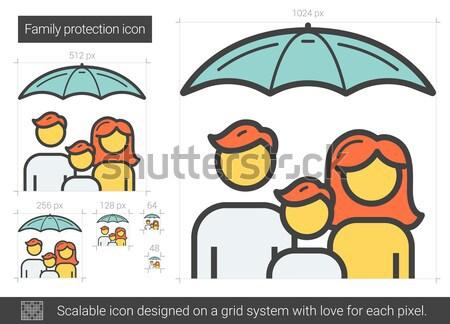 Family protection line icon. Stock photo © RAStudio
