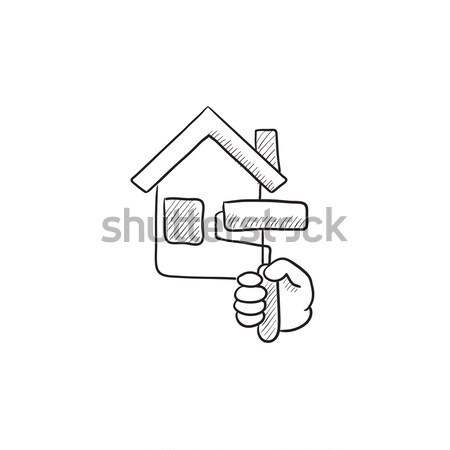 House alarm line icon. Stock photo © RAStudio