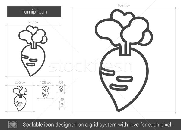 Turnip line icon. Stock photo © RAStudio