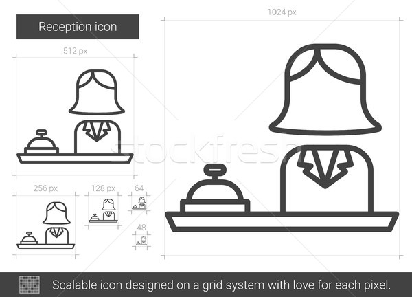 Recepção linha ícone vetor isolado branco Foto stock © RAStudio